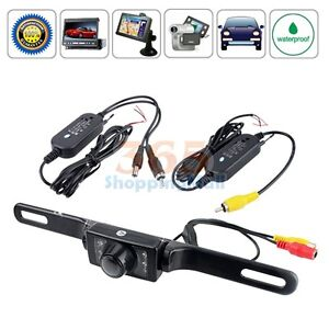 2.4G Wireless Car Reverse Rear View Backup Camera 7 IR Night Vision