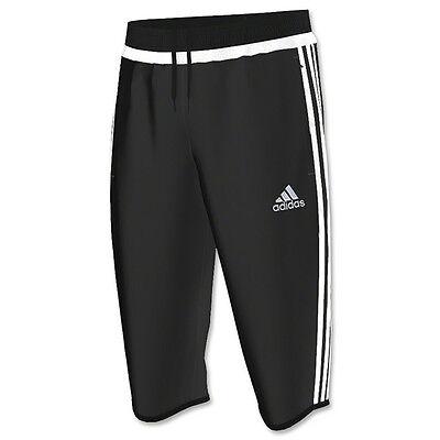 Adidas Men's TIRO 15 THREE-QUARTER CLIMACOOL Training Pants Black M64027 (Adidas Tiro 15 Three Quarter Pants Mens Black)