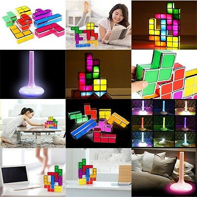 Newest DIY Tetris LED Desk Light Table Lamp mood lamp light xmas gift children