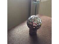 Golf ball gear knob