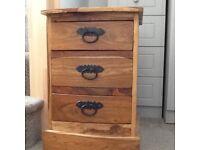 FOR SALE Jali Bedside 3 drawer chest