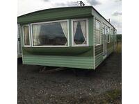 Static caravan for sale - Pemberton Corniche 37x12 2 bedrooms double glazed panel heated