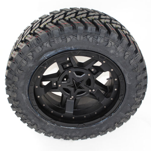 "20"" 20x9 Xd827 Rs3 35x12.50r20 Atturo Mt 35"" Tires Ram F150 Silverado 2500"