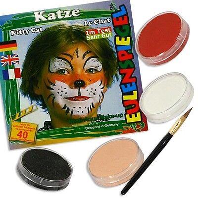 Katzenschminke, Katzengesicht schminken, Kinderschminke Katze,Faschingsschminke ()