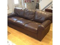 IKEA EKTROP 3 seat leather sofa (Delivery included)