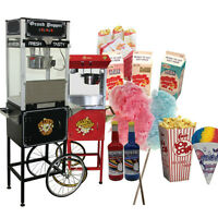 Popcorn Machines, Snow Cone and Cotton Candy Supplies FOR SALE