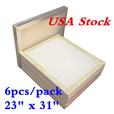 Usa Stock 6pcs 23 X 31 Aluminum Silk Screen Printing Frame With 110 Mesh