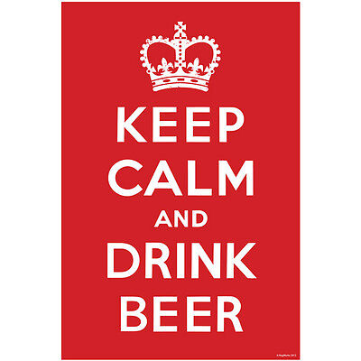 Keep Calm and Drink Beer Wall Poster - Beer Lover Gift - Novelty Bar Decoration](Dungeon Wall)