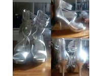 Size 6 Call it Spring Silver Heels.