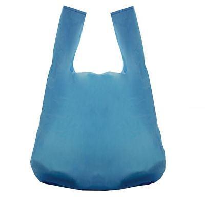 100 Blue Vest Style Plastic Carrier Bags Supermarket 11