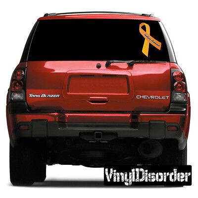 Leukemia Awareness Ribbon  Vinyl Wall Decal or Car Sticker](Leukemia Awareness Ribbon)