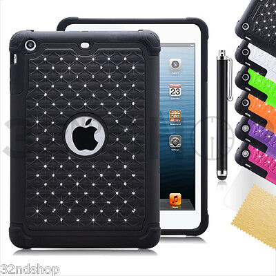 Apple iPad Mini Diamond Shockproof cover + free screen protector  Cover Free Screen