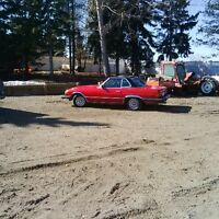 Swap or sale red 1981 Mercedes convertible