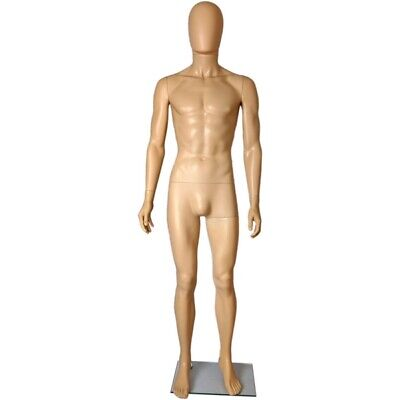 Mn-251 Fleshtone Plastic Egghead Male Full Size Mannequin Removable Head Ehm