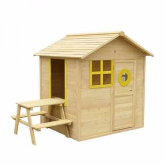 Timber Bandicoot Cubby House Set Kids Outdoor Play Equipment Toys