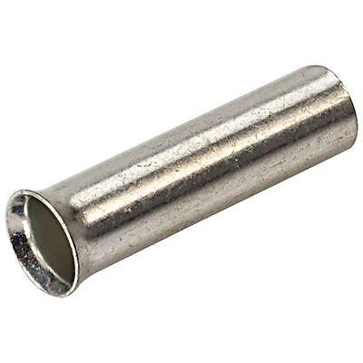 2.5mm Uninsulated Bootlace Ferrule 10mm Length - Pack of 100 - 2,5 Mm Ferrule