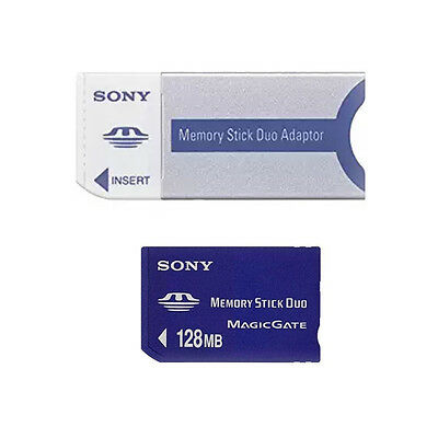 Sony MSH-M128A MSHM128A 128MB Memory Stick Duo + Adapter in Bulk Pack