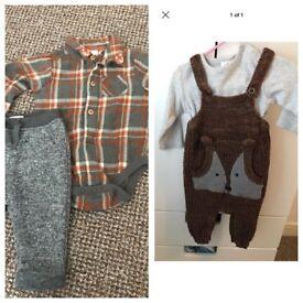 Next fox range outfits 3/6 months