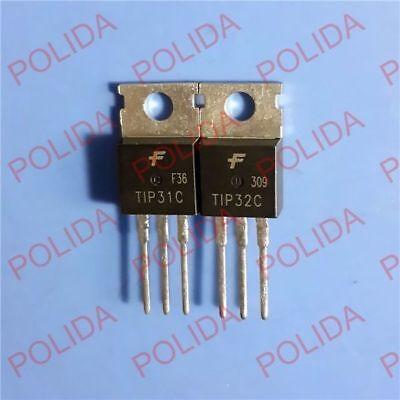 10pairs Or 20pcs Transistor Fairchildsec To-220 Tip31ctip32c Tip31ctutip32ctu