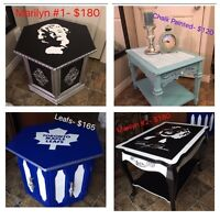 End Tables Toronto Maple Leafs, Marilyn Monroe, chalk paint