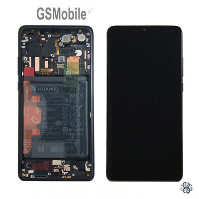 Original Display Pantalla Completa LCD Touch Marco Bateria P30 Pro VOG-L29 Black