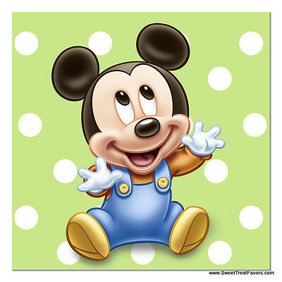 Mickey Mouse Baby NAPKINS Cake 1st First Birthday Decoration Party Supplies - Baby Mickey Mouse 1st Birthday Party Supplies