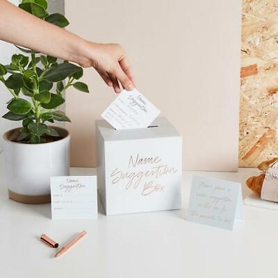 BABY NAME SUGGESTION BOX - 30 Cards + 1 Sign  - Baby Shower Gender Reveal Party tweedehands  verschepen naar Netherlands
