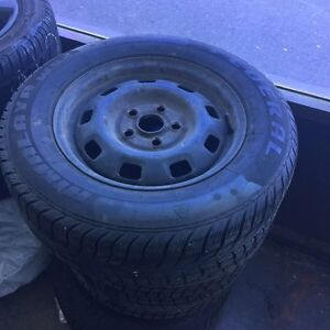 205/65/15 x4 winter tires and rims off a VW van