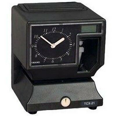 Amano Tcx-21a020 Time Clock Gray Tcx-21 New