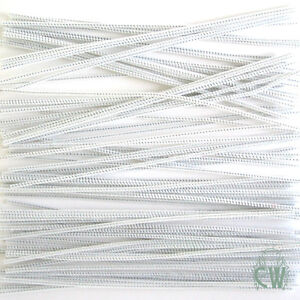 100 LONG White Pipe Cleaners / Chenille Stems 4mmx30cm. Perfect for Art & Craft