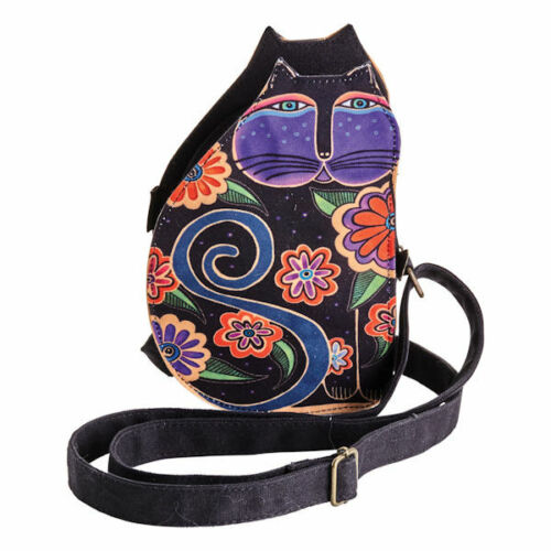 New Laurel Burch Floral Cut Crossbody BLACK  Small Purse Shoulder gift