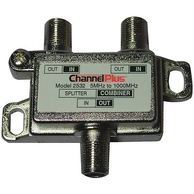 Channel Plus 2532 Tv Splitter Combiner  2 Way   1 Ghz Bandwidth