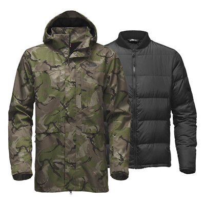 Mens Down Triclimate Jacket - Men's North Face Green Camo Outer Boroughs 550 Down Triclimate Jacket M New $349