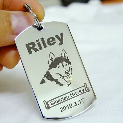Rectangle Name Tags - Rectangle Pet ID Tags Dog Name Tag Stainless Steel Custom Personalised Pet Tags