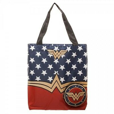 DC Comics Wonder Woman Packable Tote Beach Bag Handbag Reusable Grocery Bag
