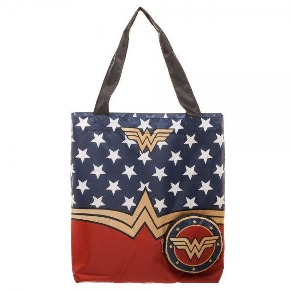DC Comics Wonder Woman Packable Tote Beach Bag Handbag Superhero ...