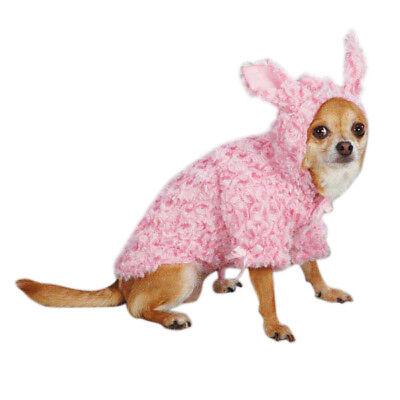 NEW Pink Bunny Coat Costume Dog Pet Clothes ESC (Choose Size TC, XS, S, S/M, M) - Dog Bunny Costumes