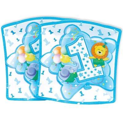 10 blaue Papp-Teller zum 1. Geburtstag Junge, Party-Teller, Baby-Boy-Party
