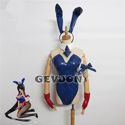 Anime ikkitousen kanu unchou Bunny Girl Jumpsuit Cosplay Costume Sexy Party (Bunny Kostüm Anime)