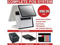 ePos System Brand New Touch screen Double Screen