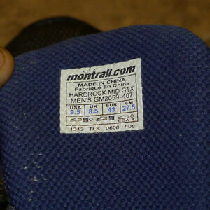 Montrail Hardrock Trail Running shoes size 9.5 Kitchener / Waterloo Kitchener Area image 3