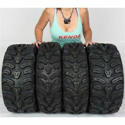 Full set of Kenda Bear Claw HTR Radial (8ply) 25x8-12 and 25x10-12 ATV Tires