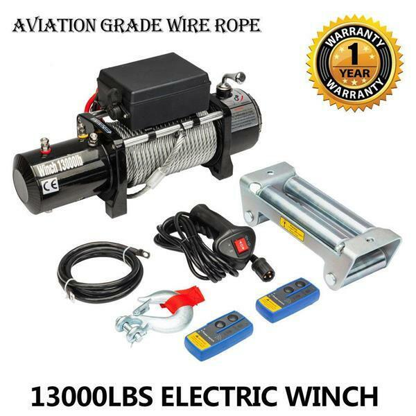 13000lbs Powerful Electric Recovery Winch Truck SUV with Remote Control US