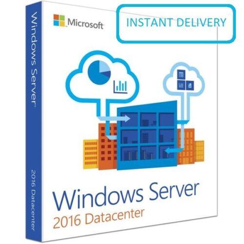 Microsoft Windows Server 2016 Datacenter Key Code 64Bit Genuine Activation