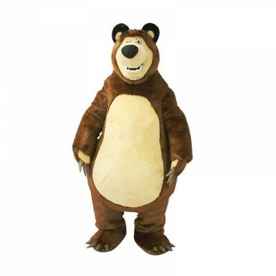 Masha Bear Mascot Costume Ursa Grizzly Birthday Party Cosplay Fancy Party Dress](Grizzly Bear Mascot)