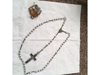 Rosary chain and pendant with cross