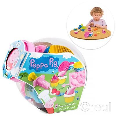 New Peppa Pig Cupcake Dough Playset Cake Mould Party Doh Creative Official