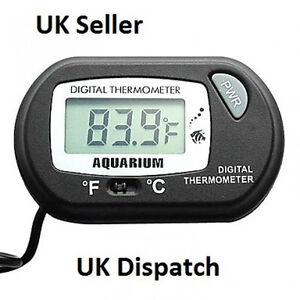LCD Digital Aquarium Tank Thermometer Fish Tank Vivarium Water Marine Uk Seller