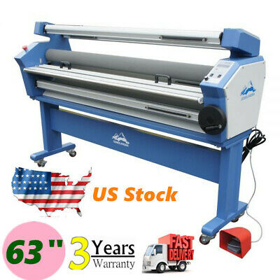 Usa 110v 63 Full-auto Roll Large Format Cold Laminator Machine Heat Assisted