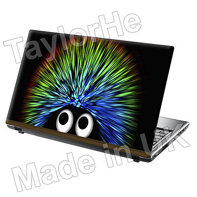 "15.6"" Laptop Skin Sticker Decal Colourful Hedgehog 39"